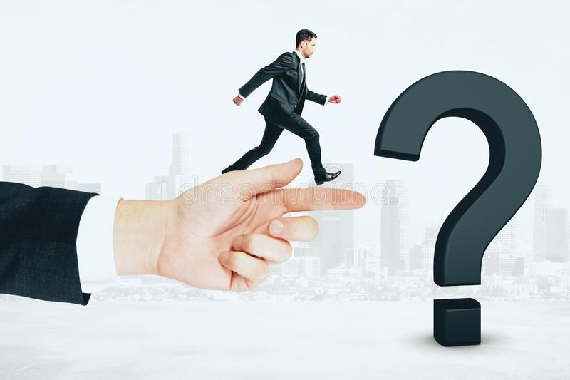 Confusion and ask concept royalty free stock photos