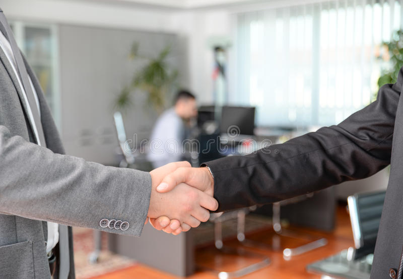 Businessmen's handshake stock photography