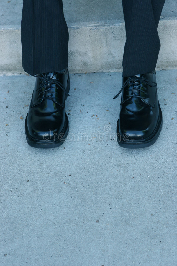 Businessmen's shoes stock photo