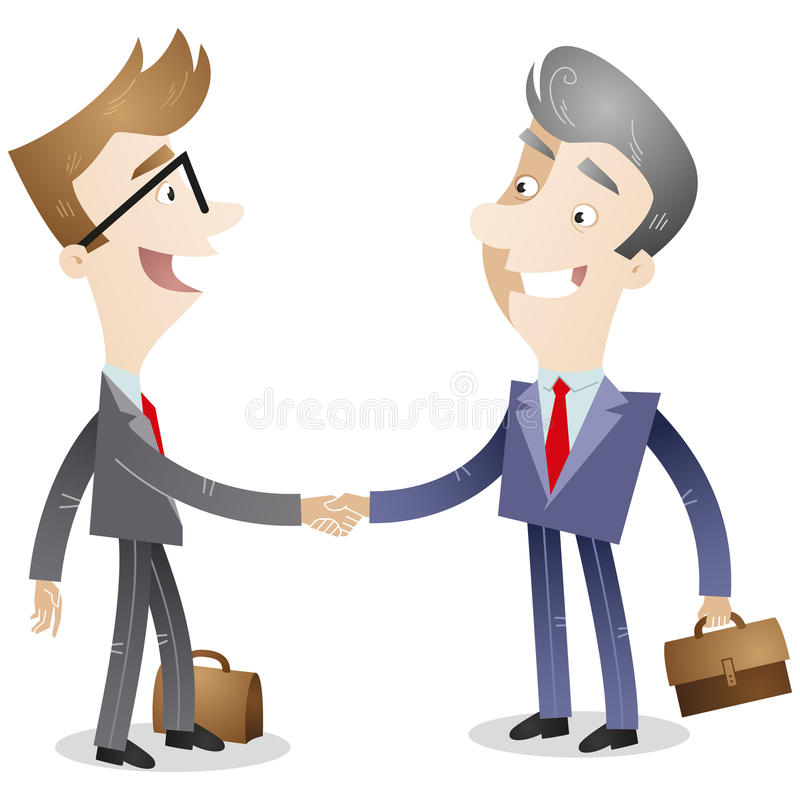 businessmen shaking hands stock vector illustration of agreement rh dreamstime com handshaking cartoon images shake hands cartoon