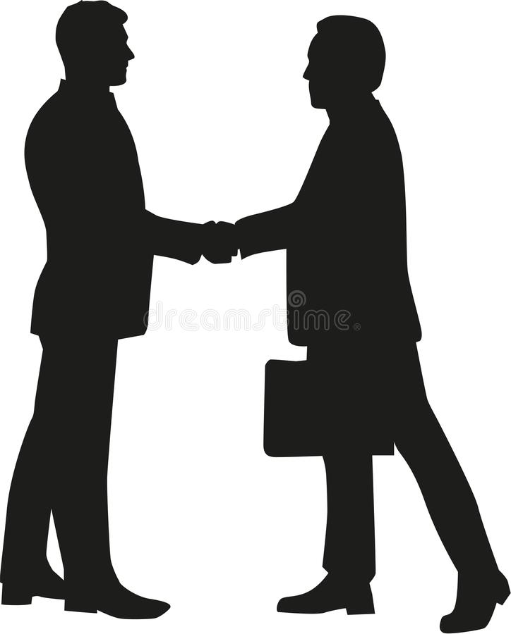 Businessmen shaking hands. Office vector vector illustration