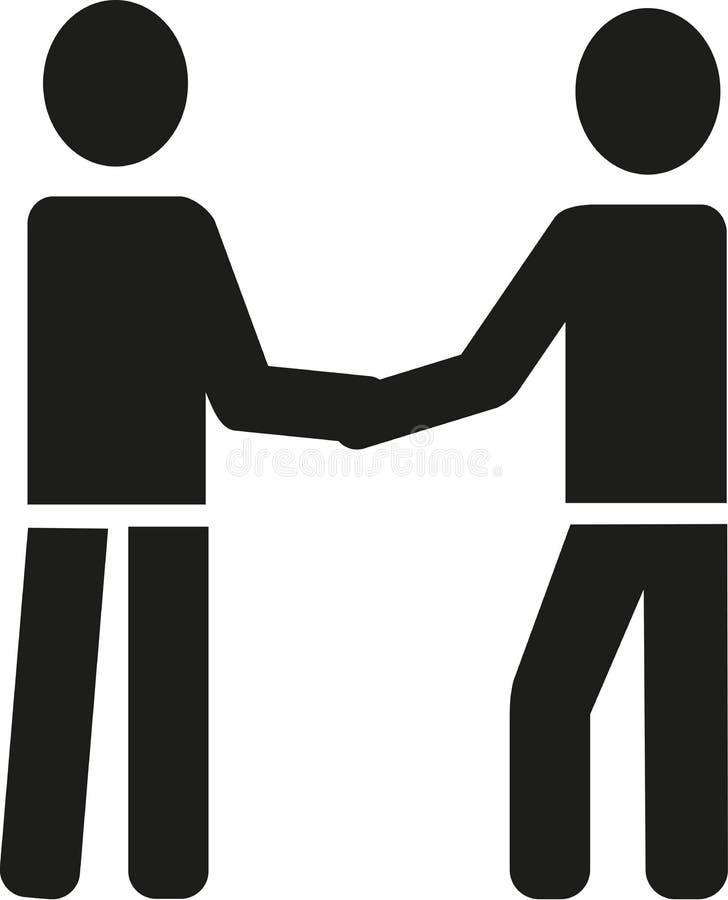Businessmen shaking hands pictogram. Vector royalty free illustration