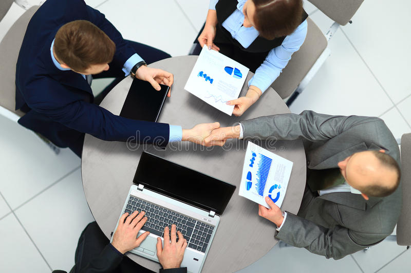 Businessmen shaking hands. royalty free stock images