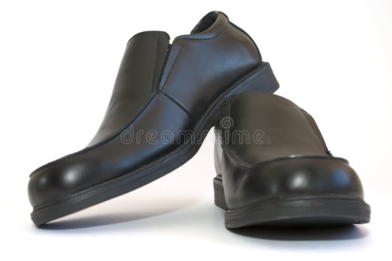 Businessmen Shoes. Isolated businessman shoes stock photography