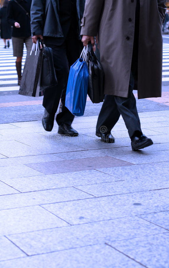 Download Businessmen shopping stock image. Image of foot, step - 1636331