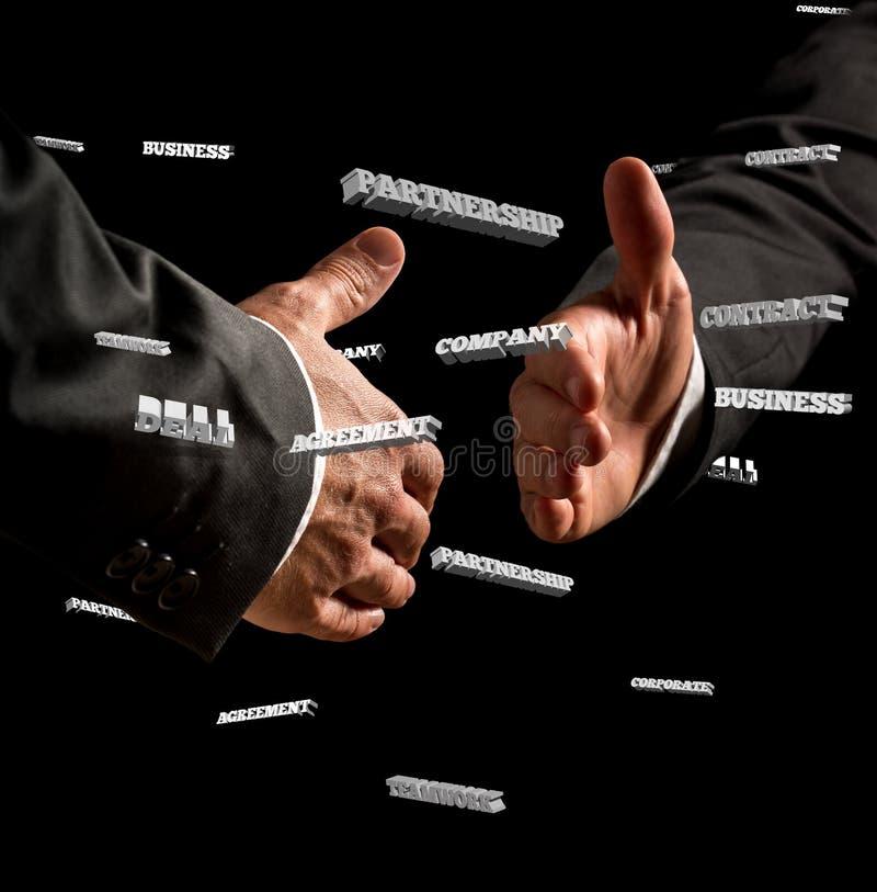 Businessmen Showing Handshake Gesture royalty free stock photos