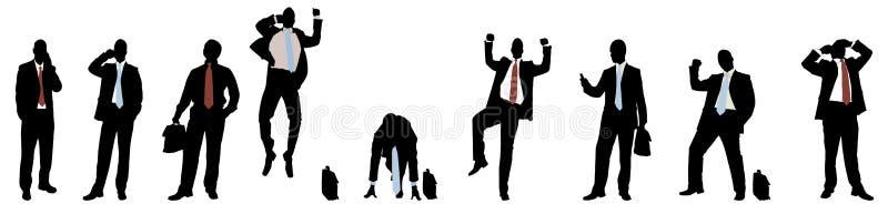 Businessmen silhouette royalty free stock photos