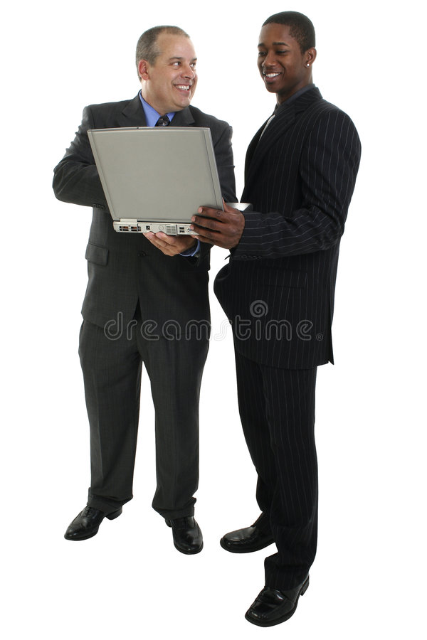 Download Businessmen Standing With Laptop Computer Royalty Free Stock Photo - Image: 198755