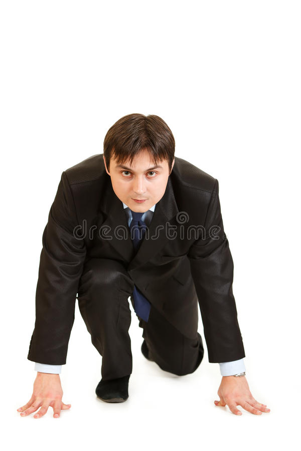 Download Businessmen In Start Position Ready For Race Royalty Free Stock Photography - Image: 18633727