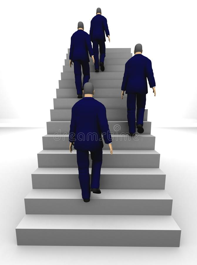 Businessmen Success 3D staircase royalty free stock photo