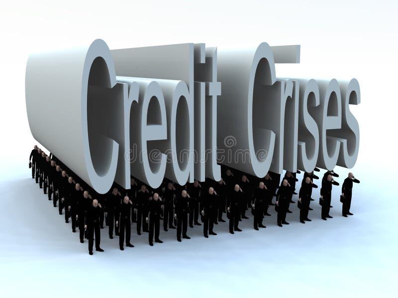 Download Businessmen Under The Credit Crises Stock Illustration - Image: 9645974