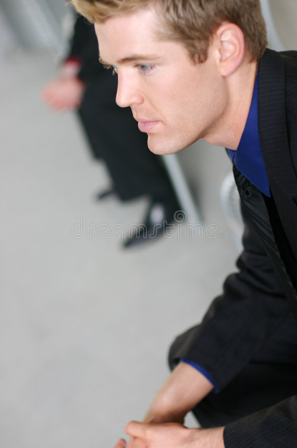 Download Businessmen waiting stock photo. Image of angle, listening - 3415566