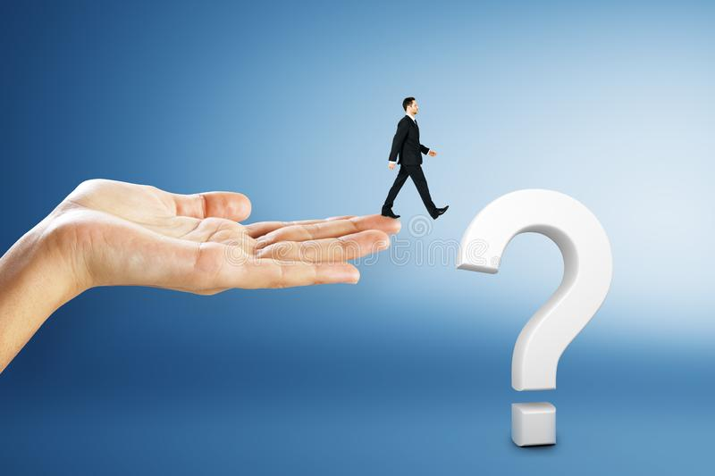 Confusion and faq concept royalty free stock photo