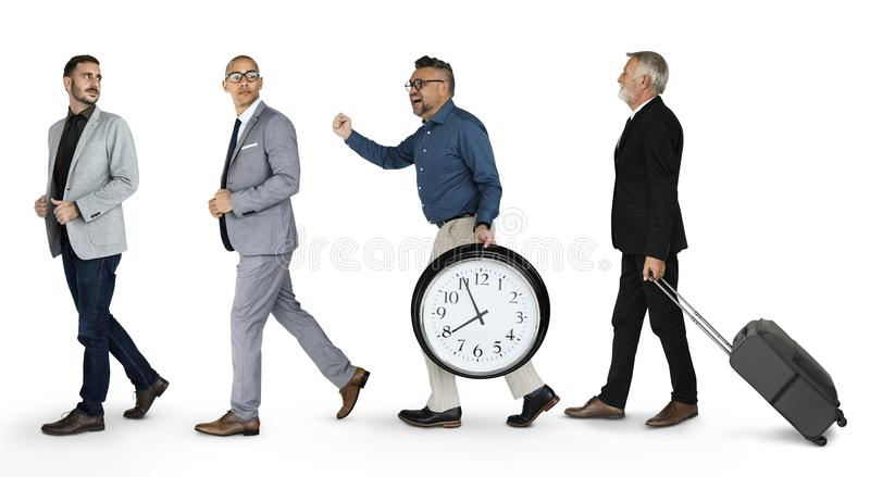Businessmen wearing formal suit and walking royalty free stock image