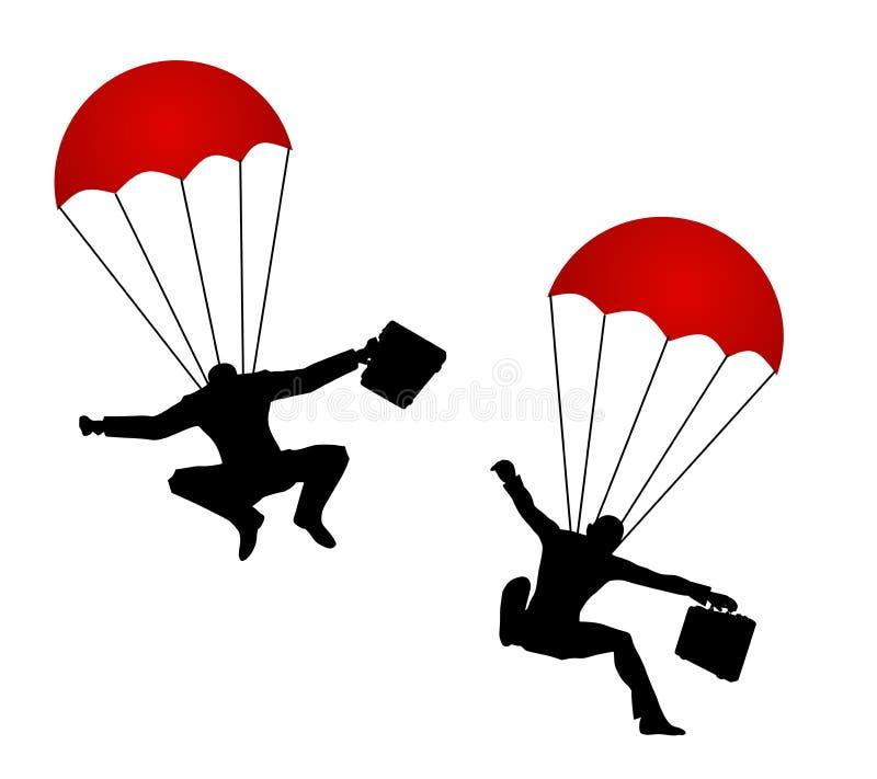 Free Businessmen Wearing Parachutes Stock Photo - 4318210