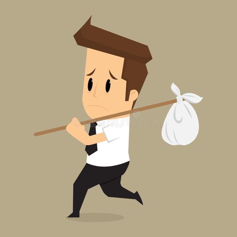 Businessmen were fired from their jobs, unemployment vector illustration