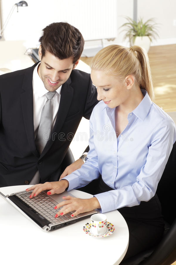 Download Businessmen Working With His Colleague Stock Image - Image: 36986441