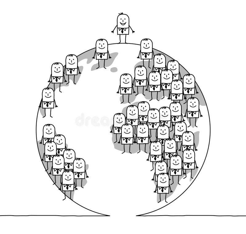 Download Businessmen and world stock vector. Image of prosperity - 14858747