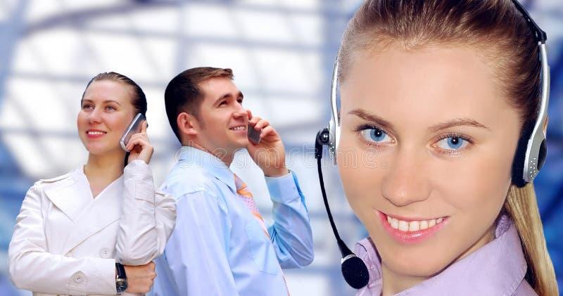 Businessmens que chama pelo telefone imagens de stock royalty free