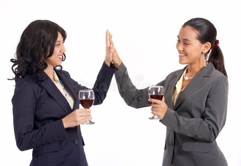 businesspartnerskvinnlig royaltyfria foton