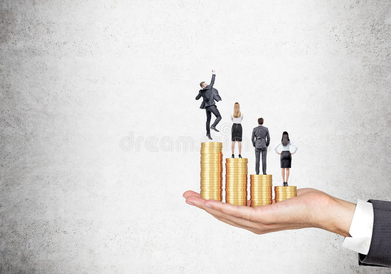 Businesspeolpe en carrière de groei royalty-vrije stock afbeelding
