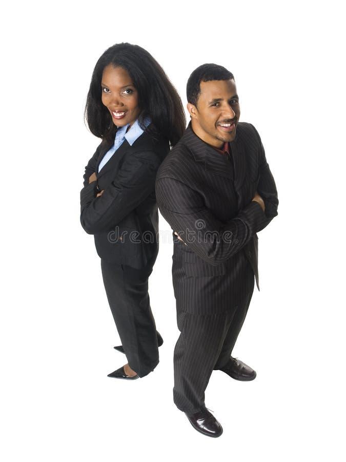 Businesspeople - ευτυχής πλάτη με πλάτη στοκ φωτογραφία με δικαίωμα ελεύθερης χρήσης