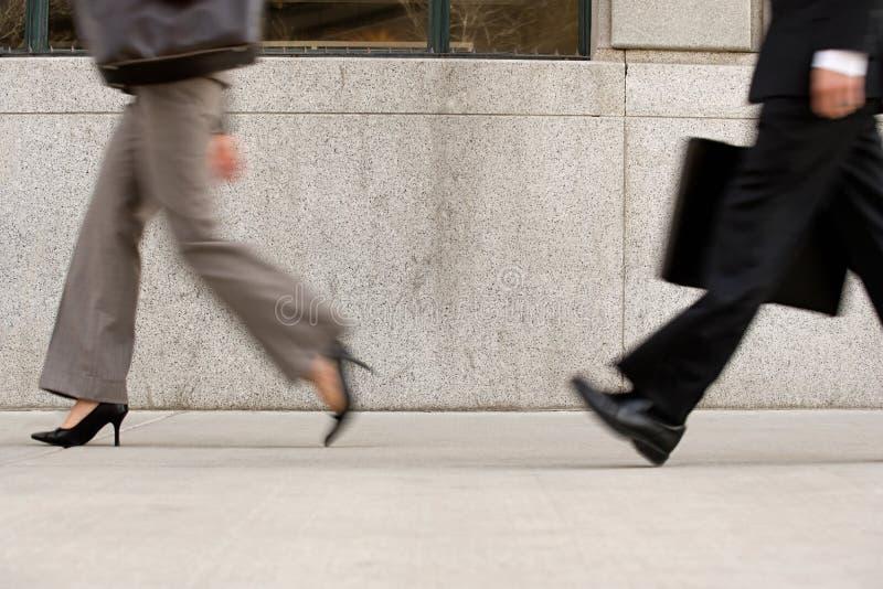 Businesspeople στη βιασύνη στοκ εικόνες