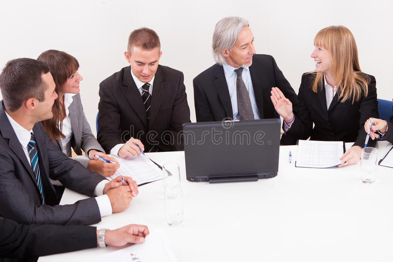 Businesspeople στη συνεδρίαση στοκ φωτογραφίες
