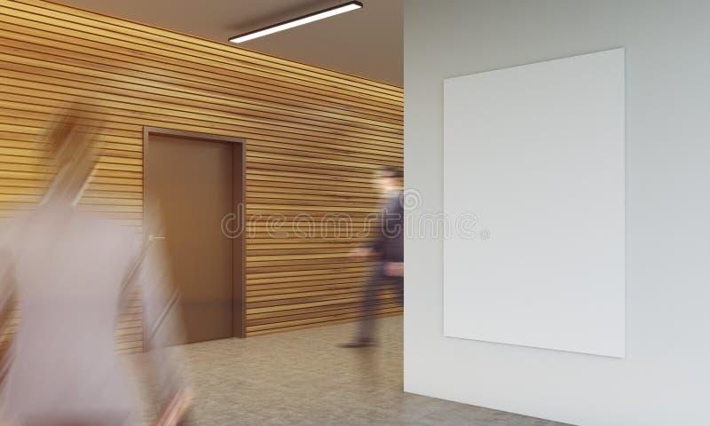 Businesspeople στο διάδρομο γραφείων διανυσματική απεικόνιση
