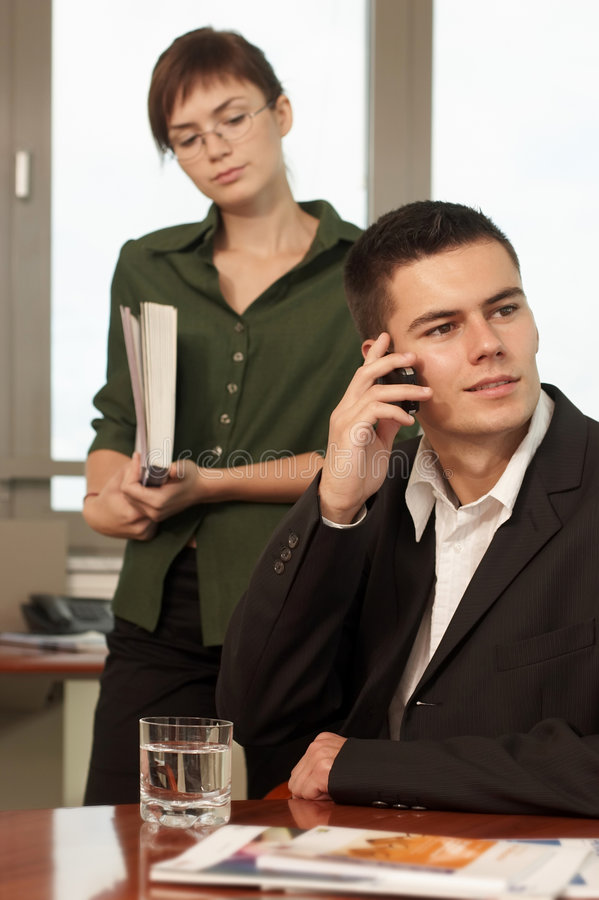 Download Businesspeople stock photo. Image of talk, subordinated - 1687792