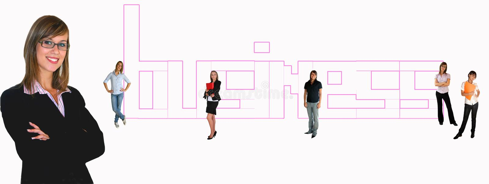 Download Businesspeople stock image. Image of girl, casual, five - 9140673