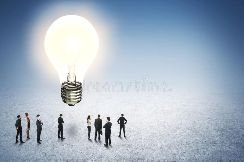 Idea and innovation stock image