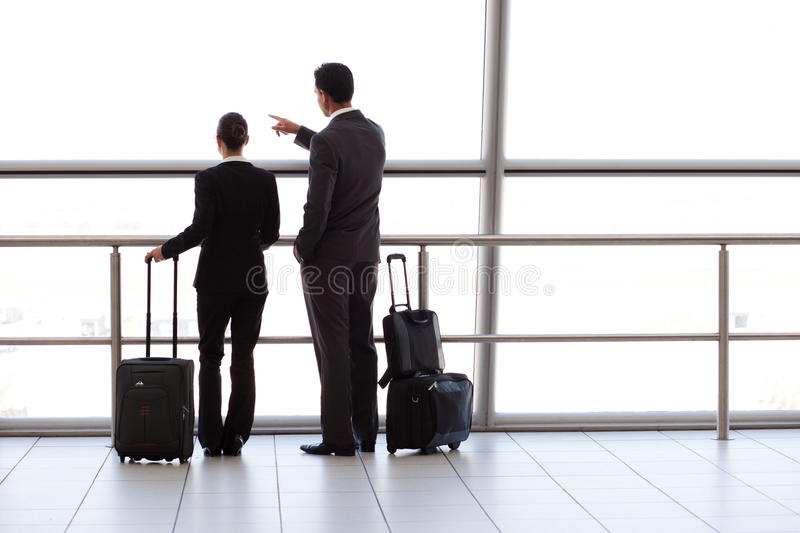 Businesspeople At Airport Stock Photo
