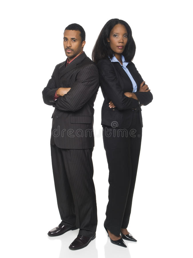 Businesspeople - back to back royalty free stock images