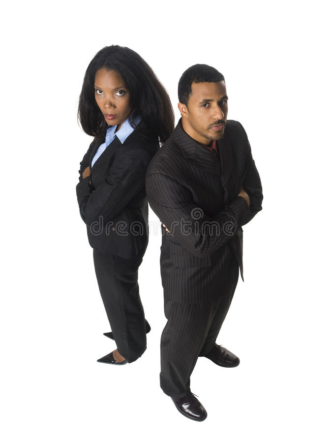 Businesspeople - back to back royalty free stock photos