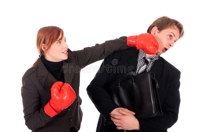 Download Businesspeople Boxing Gloves Stock Photo - Image of competition, businesswoman: 11995508