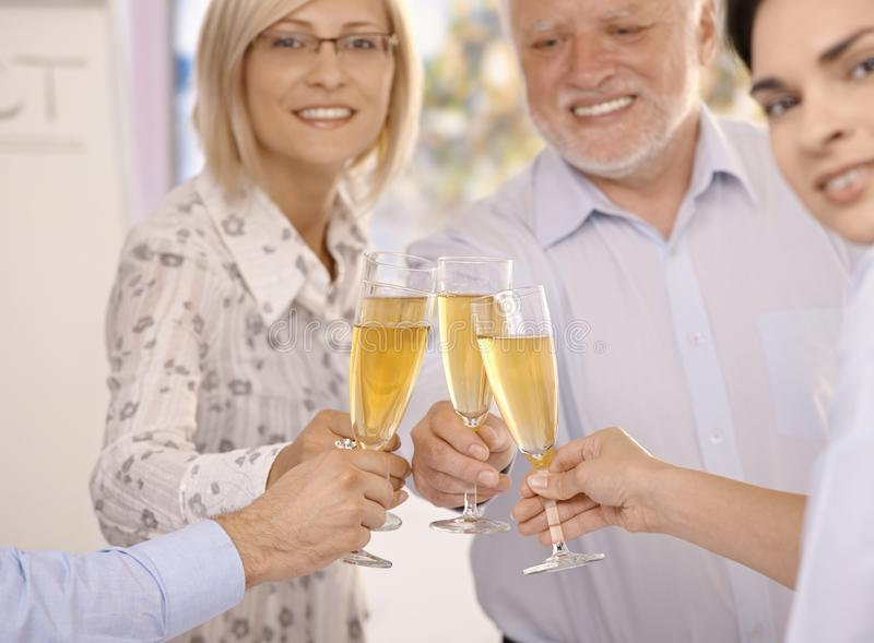 Businesspeople celebrating success stock photography