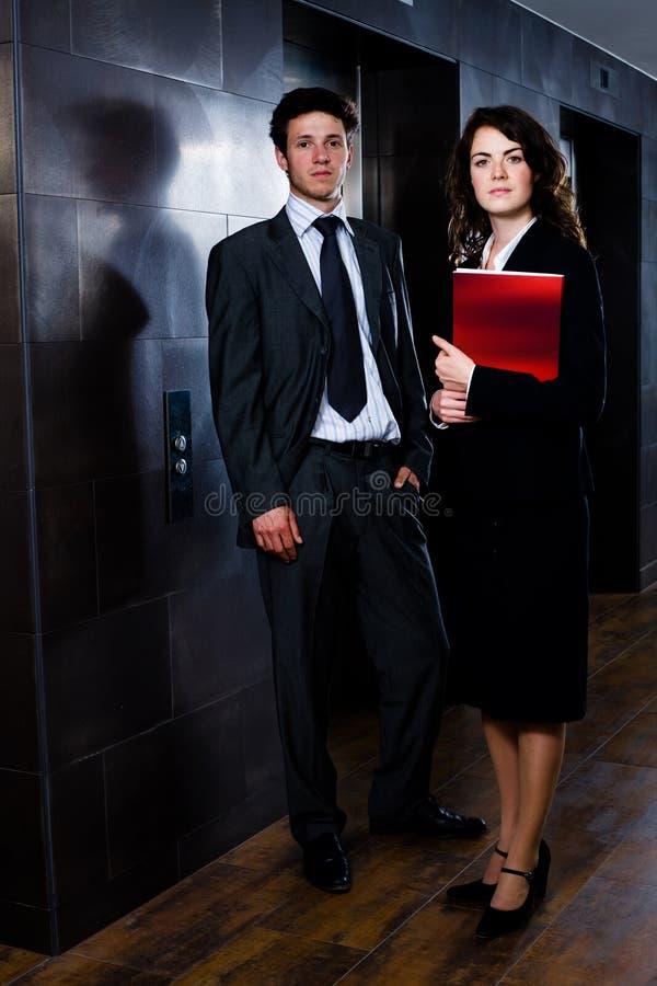 Businesspeople - collectief portret stock afbeeldingen
