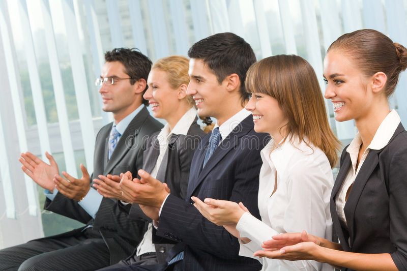 Businesspeople at conference