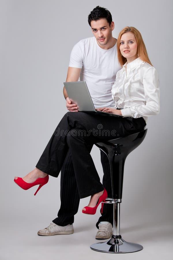 Businesspeople die samenwerkt stock afbeeldingen