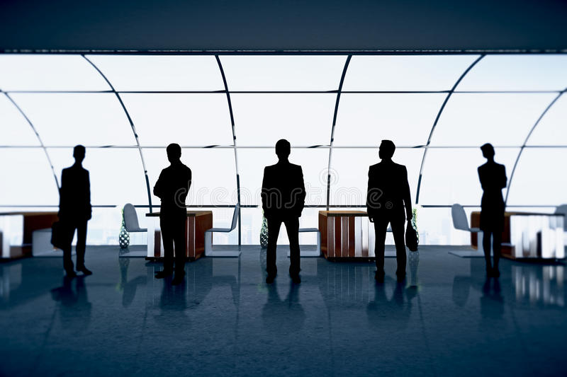 Businesspeople figures in office royalty free stock images