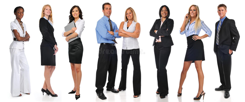 businesspeople grupperar standing royaltyfri foto