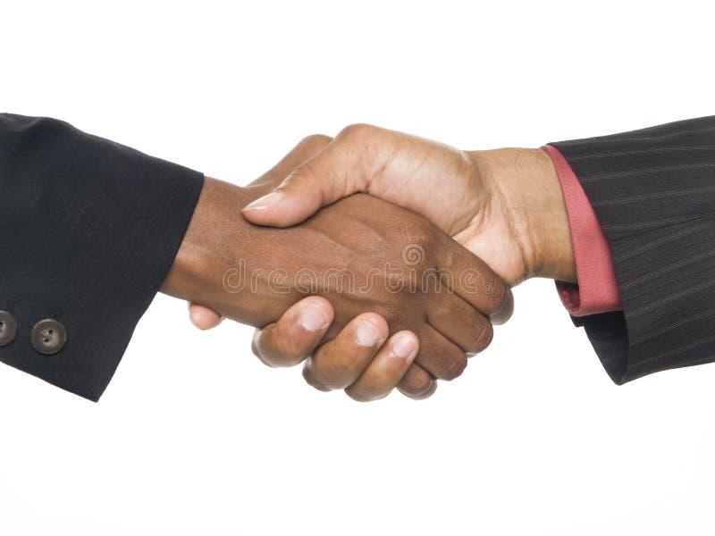 Businesspeople - handdrukverbinding de overeenkomst royalty-vrije stock foto's