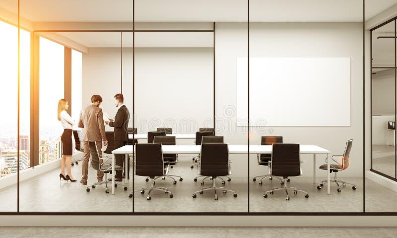 Businesspeople i konferensrum stock illustrationer