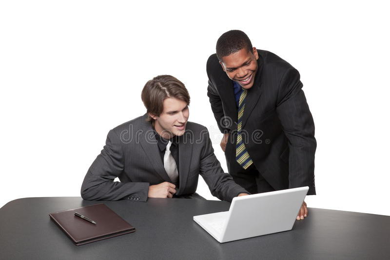 Businesspeople - lap-top διασκέψεων στοκ εικόνες με δικαίωμα ελεύθερης χρήσης