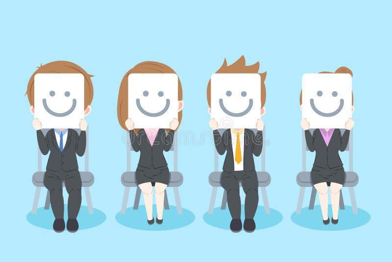Businesspeople med intervjubegrepp royaltyfri illustrationer