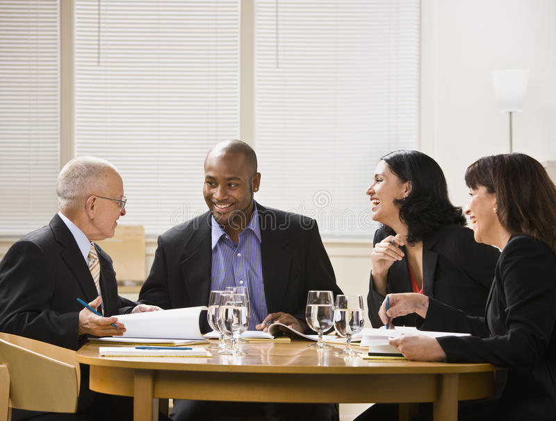 Download Businesspeople in Meeting stock image. Image of long - 10011337