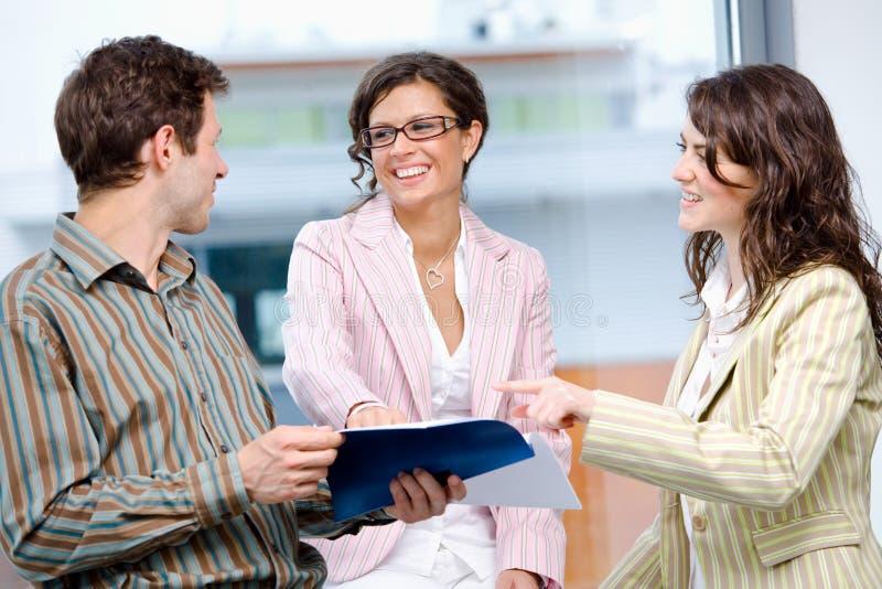 Businesspeople on meeting stock image