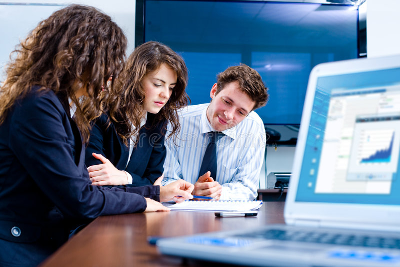 Businesspeople meeting stock image