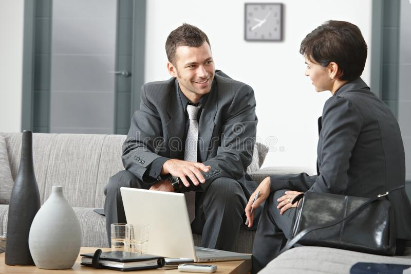 Businesspeople meeting at office royalty free stock image